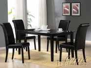 ACME 70048-4X50 Joe Black Finish Dining Table Set