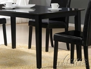 ACME 70048 BLACK DINING TABLE