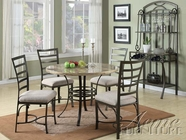 ACME 70057 FAUX MARBLE 5PC DINING SET