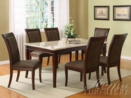ACME 70060-4X62 Britney White Marble Top Dining Table Set