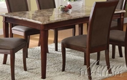 Acme 70070 Brown Marble Dining Table