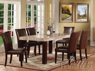 ACME 70130-4X32 Fraser Faux Marble Top Dining Table Set