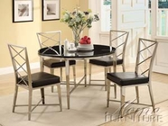 ACME 70320-4X23 Misami Chrome Finish Dining Table Set
