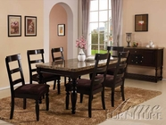 ACME 70380-4X82 Bandele Emparedora Marble Top Dining Table Set
