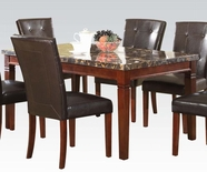 ACME 70770 NEW BLACK MARBLE DINING TABLE