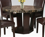 "ACME 70780 BK FAUX MARBLE 48"" Dia DINING TABLE"