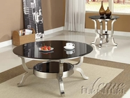 ACME 80005-2X07 Rosa Chrome Finish Glass Top Coffee/End Table Set
