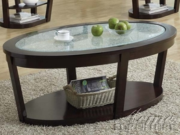 ACME 80015 CRACKLE GLASS COFFEE TABLE