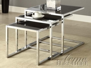 ACME 80025 CHROME/BLACK NESTING TBL SET