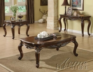 ACME 80064-65-66 Remington Brown Cherry Finish Coffee/End Table Set