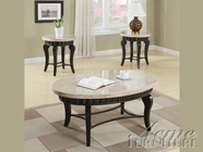 ACME 80071-2X72 Galiana Brown Marble Top Coffee/End Table Set