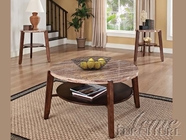 ACME 80083 ROUND 3PC PK COFFEE/END TABLES-W/P2