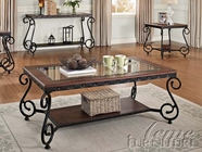 ACME 80090-91-92 Waneta Cherry Finish 3pc Coffee/End Table Set