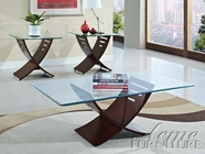 ACME 80102 3PC COFFEE/END TABLES (W/80102GL)