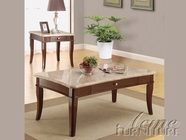 ACME 80108-2X09 Britney White Marble Top Coffee/End Table Set