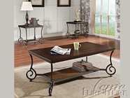 ACME 80115-2X16 Maxson Chocolate Finish 3pc Coffee/End Table Set