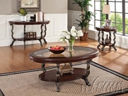 ACME 80120-2X21 Bravo Cherry Finish 3pc Coffee/End Table Set