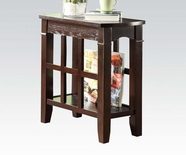 ACME 80155 WALNUT SIDE TABLE