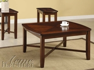 ACME 80212 DARK CHERRY 3PC PK COFFEE/END TABLES
