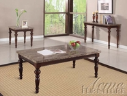 ACME 80225-2x27 Bandele Emparedora Marble Top Coffee/End Table Set