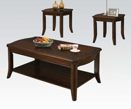 ACME 80550 3PC PK COFFEE/END TABLE SET