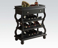 ACME 90018 BLACK WINE RACK