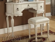 ACME 90024 WHITE VANITY SET W/STOOL