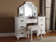 ACME 90026-27 Torian White Finish Vanity Set