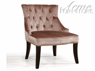 ACME 96006 CHOCOLATE VELVET ACCENT CHAIR
