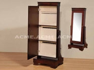 ACME 97002 CHERRY IVORY LINING JEWELRY ARMOIRE (3A3B PACKING W/P2)