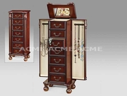 ACME 97006 CHERRY JEWELRY ARMOIRE (3A3B PACKING W/P2)