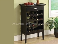 ACME 97012 WINE CHERRY RACK W/FAUX MARBLE TOP (W/P2)