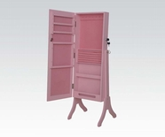 ACME 97069 PINK JEWELRY ARMOIRE W/ MIRROR
