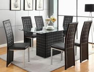 ACME Abbie 70714-70716 BK PVC DINING TABLE SET