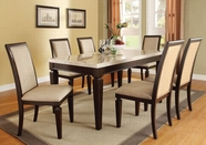 ACME Agatha 70480-70487 WHITE MARBLE DINING TABLE SET