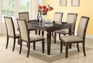 ACME Agatha 70485-70487 BLACK MARBLE DINING TABLE SET
