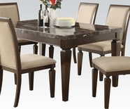 ACME Agatha 70485 BLACK MARBLE DINING TABLE