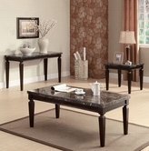 ACME Agatha 80485-80486 BK MARBLE OCCASIONAL TABLE SET