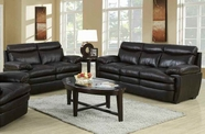 ACME Aldora 50725-50726 2 TONE BROWN TOP GRAIN LEATHER MATCH SOFA SET