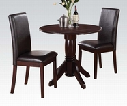 ACME Allie 70630 DARK CHERRY 3PC PK DINING SET