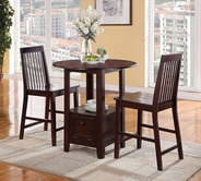 ACME Alva 70635 DARK CHERRY 3PC PK COUNTER HEIGHT SET