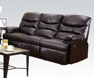 ACME Arcadia 50945 CRACKED BROWN BL SOFA W/POWER MOTION
