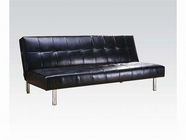 ACME Ashby 05994 BLACK PU ADJUSTABLE SOFA W/CA FOAM