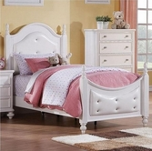ACME Athena 30200T WHITE TWIN BED