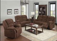 ACME Bailey 51025-51026 DARK BR CHENILLE MOTION SOFA SET