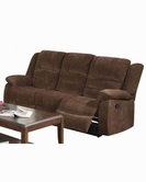 ACME Bailey 51025 DARK BR CHENILLE MOTION SOFA