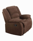 ACME Bailey 51027 DARK BR CHENILLE ROCKER RECLINER