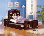 ACME Bale 30080T-30083 ESPRESSO BOOKCASE TWIN BED WITH TRUNDLE