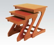 ACME Barney 80307 3PC PK OAK NESTING TABLES