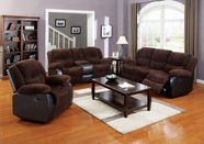 ACME Bernal 50465-50468 CHOCOLATE CORDUROY & ESP PU SOFA SET W/MOTION